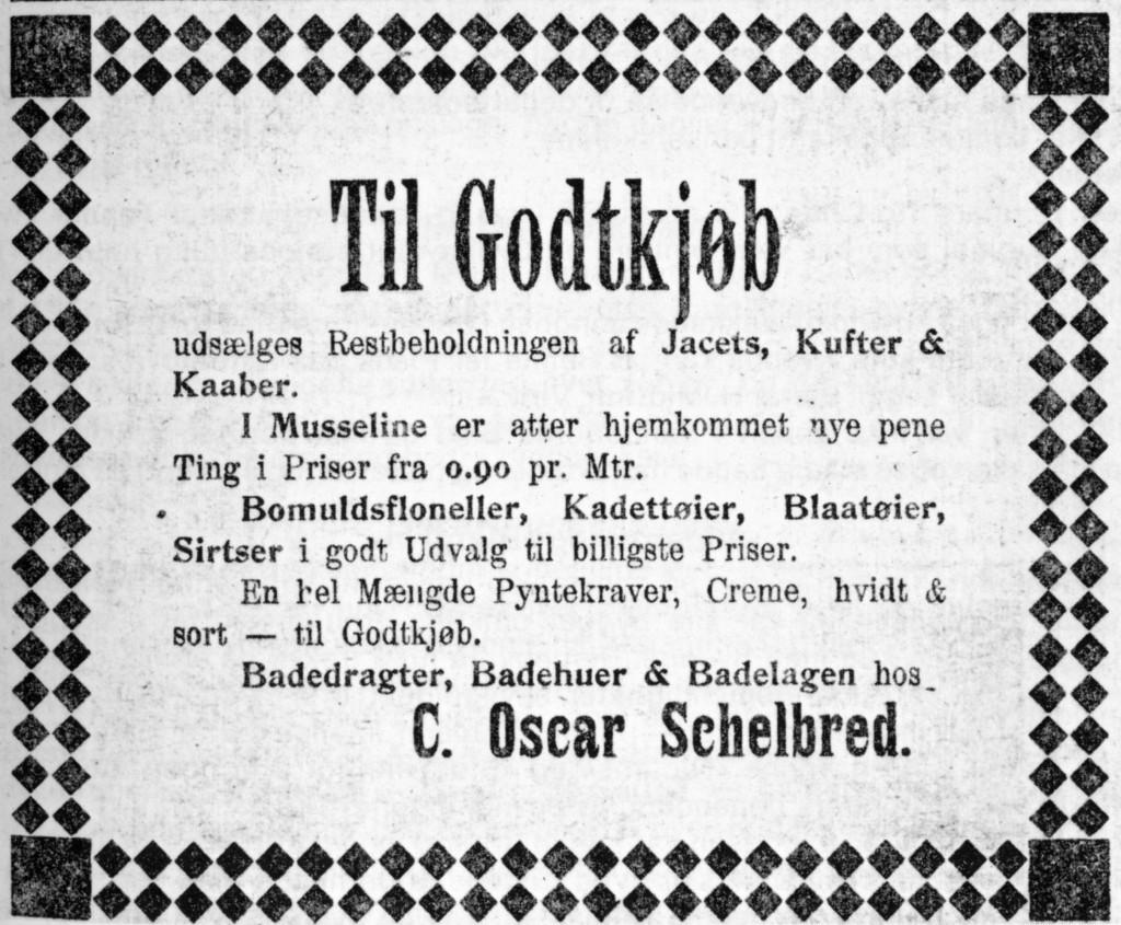 Bilde av Annonse i Sfj Blad 14.juli 1904