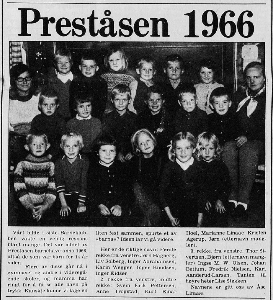 Bilde av Preståsen Barnehage 1966