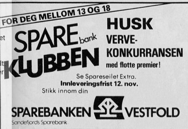 Bilde av Sandefjords Sparebank, Annonse