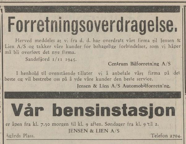 Bilde av 1945 - overdragelse