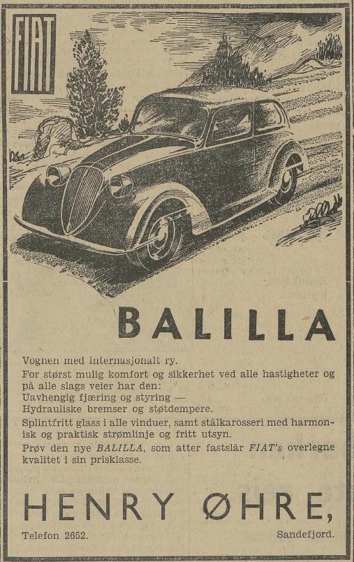 Bilde av Annonse 1938