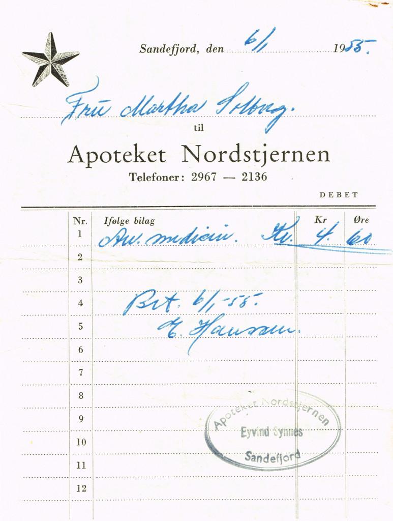 Bilde av Kvittering 1955