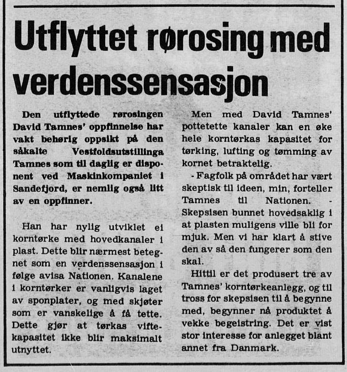 Bilde av Avisartikkel 1980