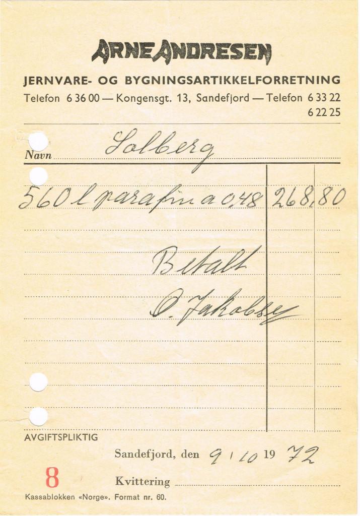 Bilde av Kvittering 1972