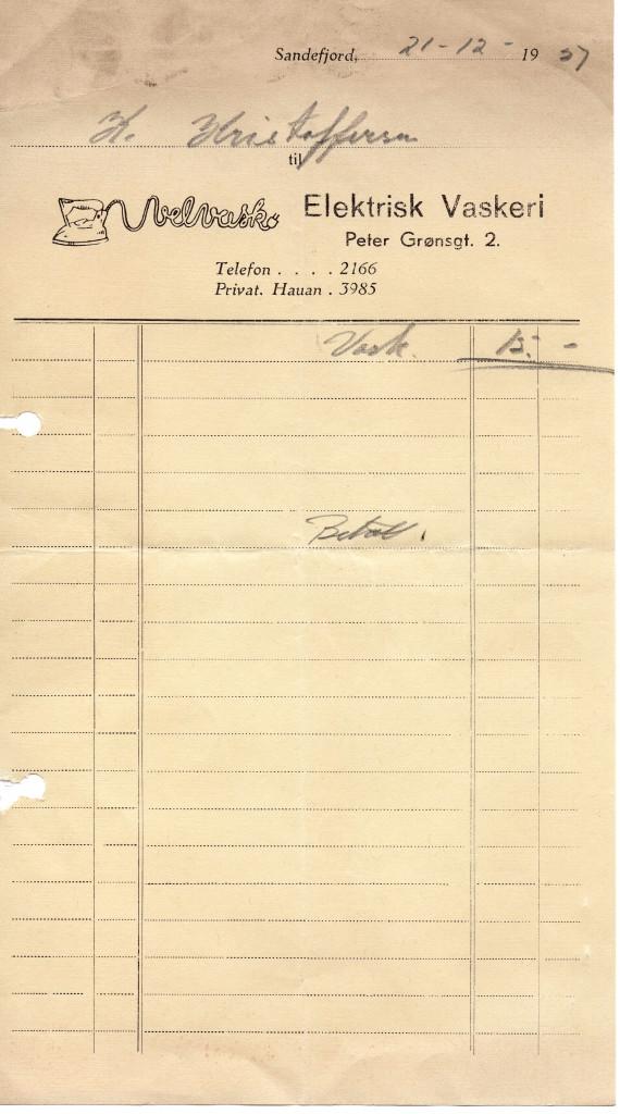 Bilde av Kvittering 1937