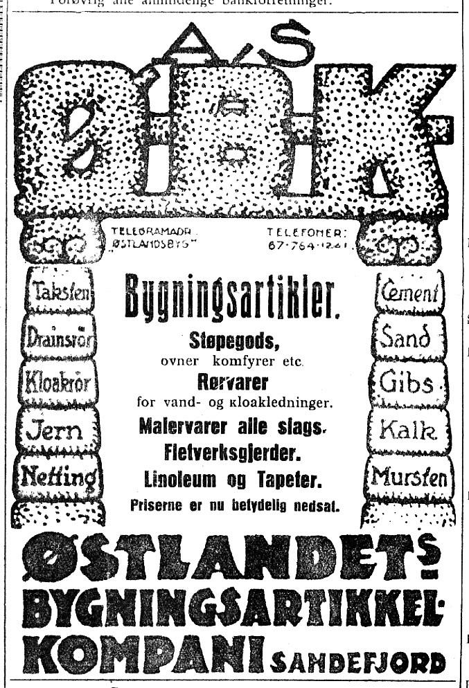 Bilde av Annonse i Vestfold 29.6.1928