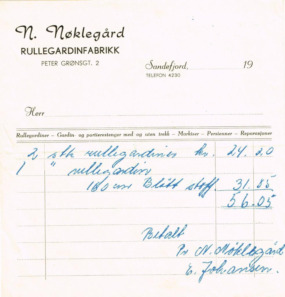 Bilde av N. Nøklegård Rullegardinfabrikk /  Peter Grøns gate 2