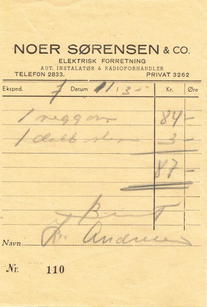 Bilde av Noer Sørensen & Co., elektrisk forretning