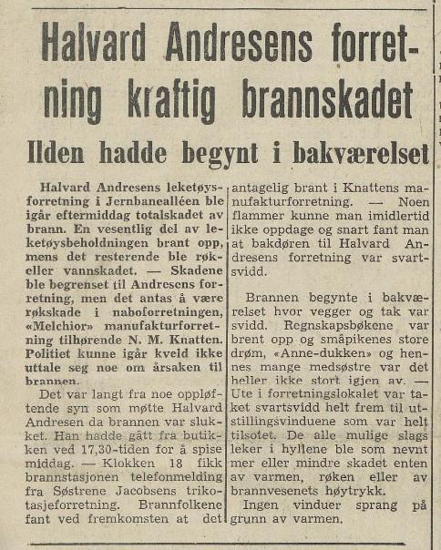 Bilde av Brann 2. januar 1959