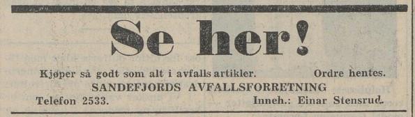 Bilde av Annonse 1949
