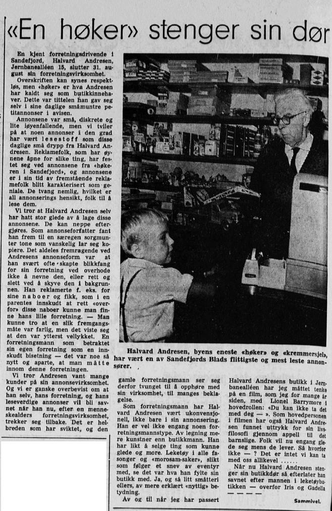 Bilde av Forretningen stenger dørene 1966