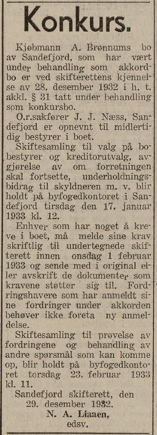 Bilde av Konkursbehandling 1932