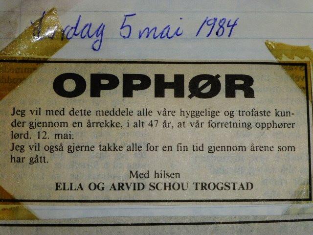 Bilde av Opphør 1984