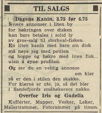 Bilde av Annonse - 1954