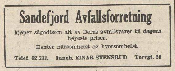 Bilde av Annonse - 1956