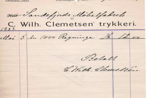 Bilde av Clemmetsen's Trykkeri, C. Wilh.