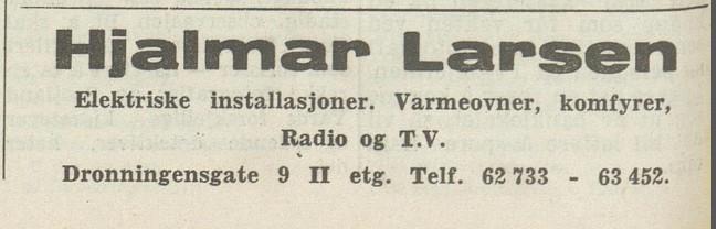 Bilde av Dronningens gate 9 II etg. / 1963