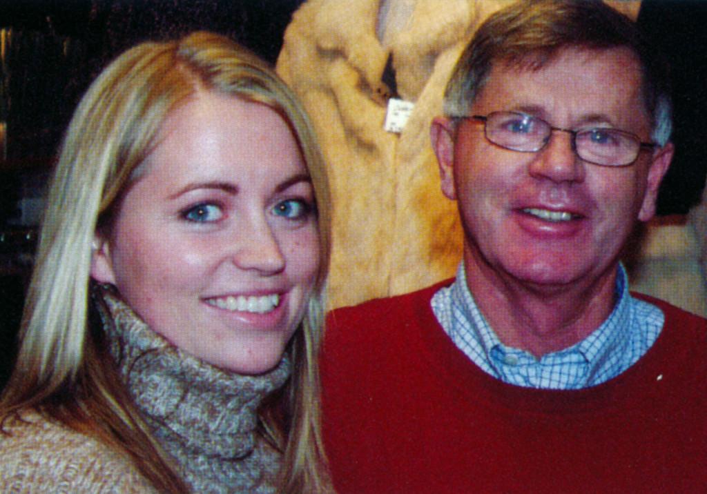 Bilde av Anton Dokken og datter Agnethe Dokken Solli