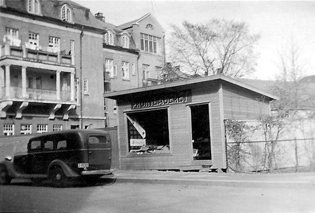 Bilde av Midlertidig butikk etter brann
