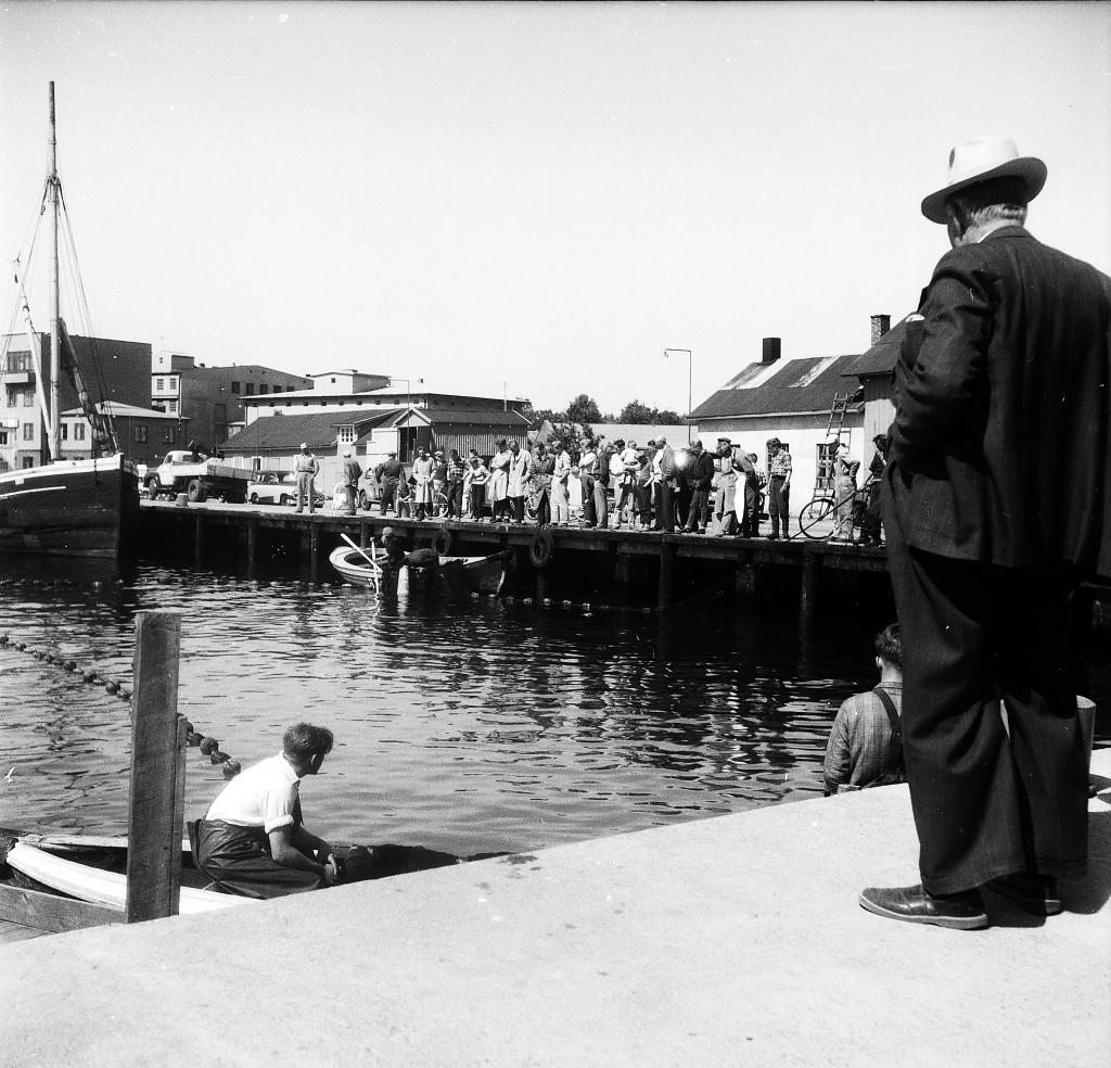 Bilde av Brislingfiske Indre havn 16. mai 1959