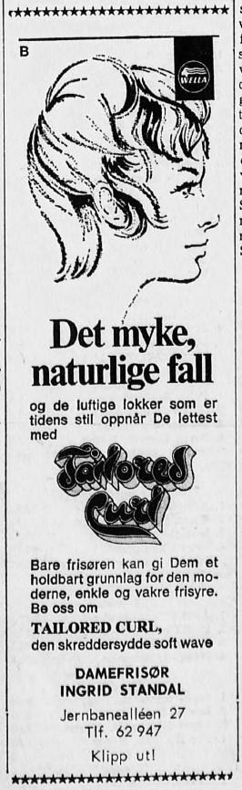 Bilde av Annonse i Sfj. Blad 12.5.1971