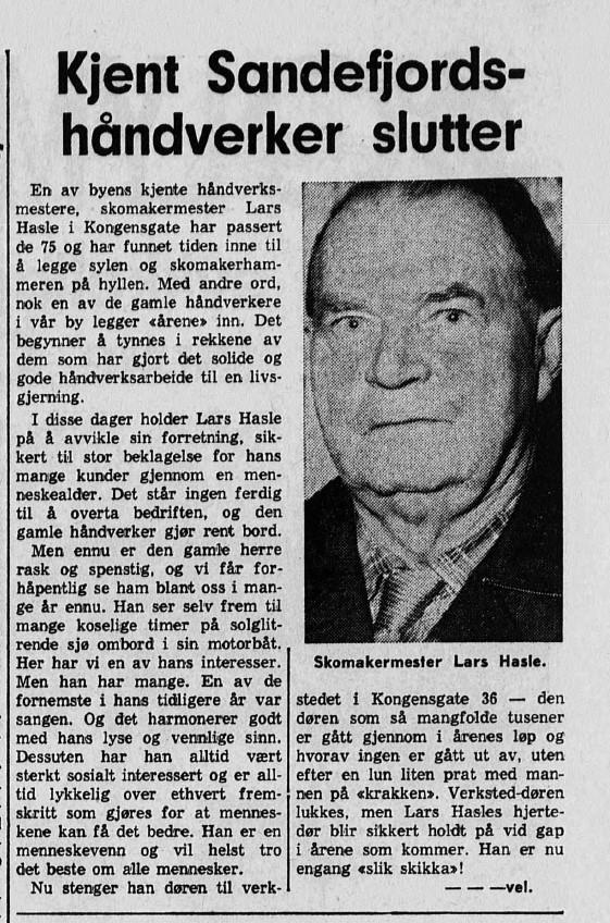 Bilde av Hasle slutter 16.10.1968