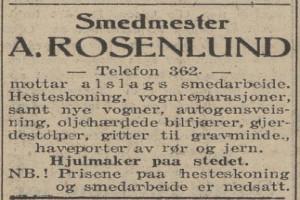 Bilde av Smedmester A. Rosenlund