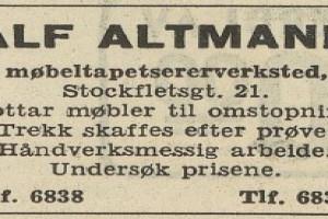 Bilde av Møbeltapetserer Alf Altmann