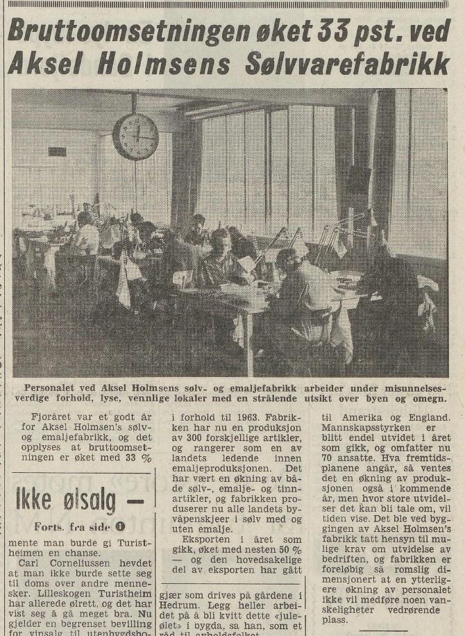 Bilde av Avisomtale 1965