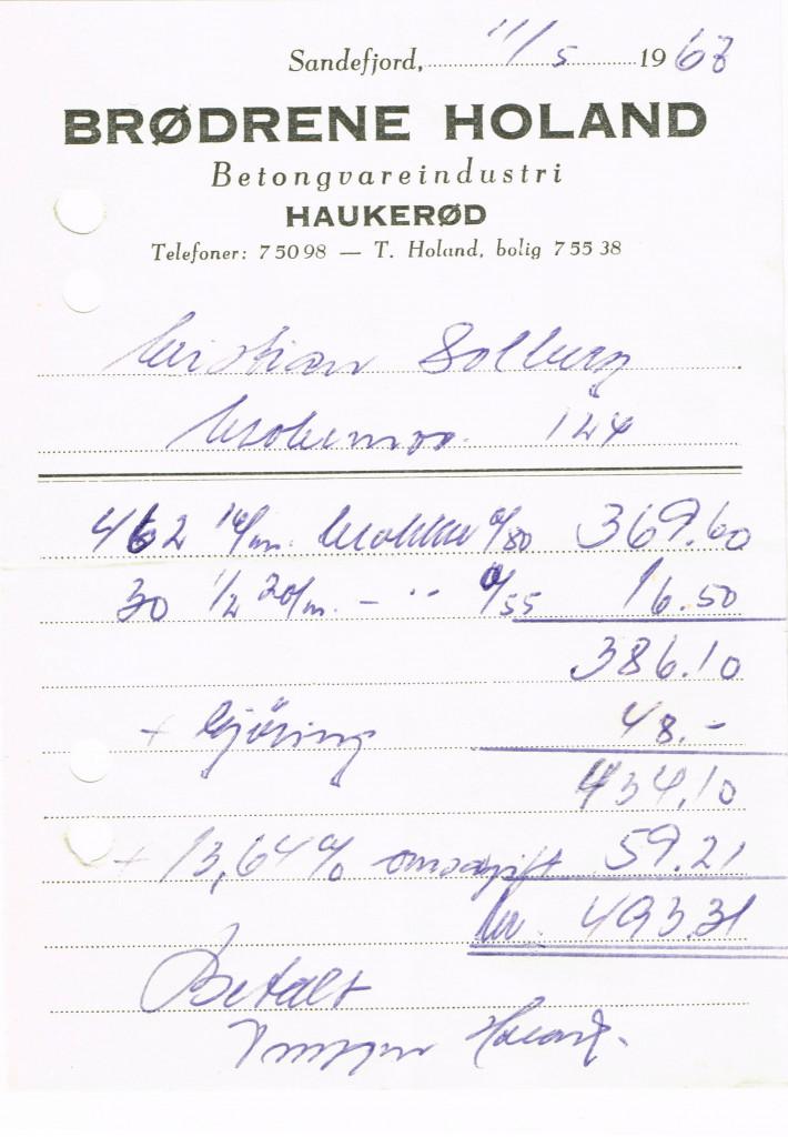 Bilde av Kvittering 1963