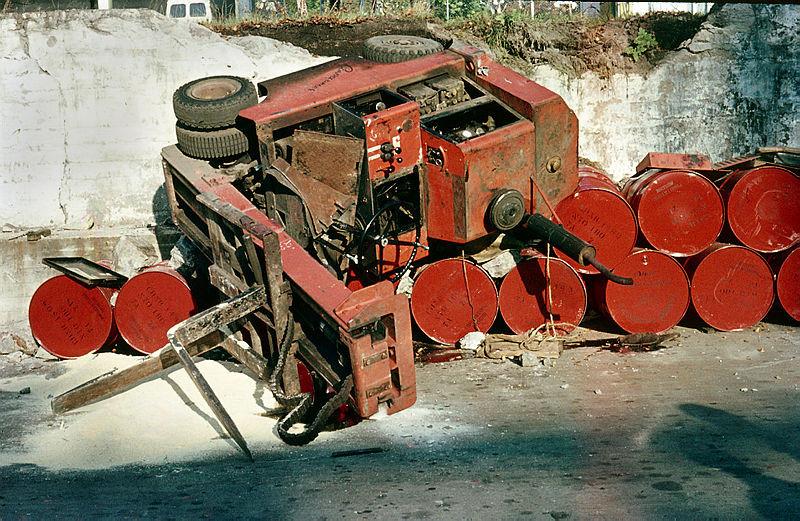 Bilde av Her fra et truckuhell.