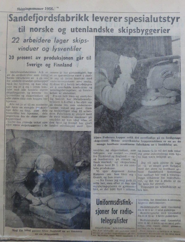 Bilde av Spesialutstyr til norske og utenlandske skipsbyggerier