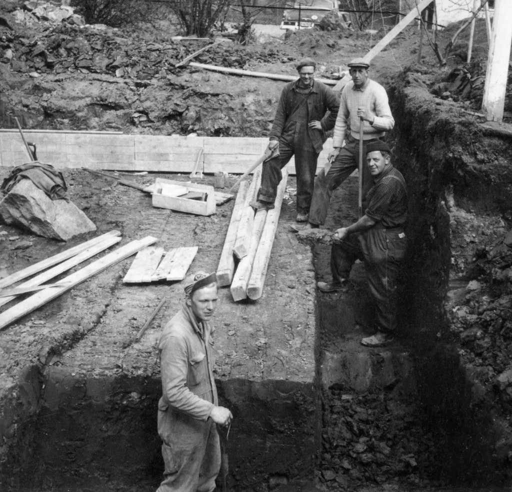 Bilde av Utgraving for bolighus i 1953
