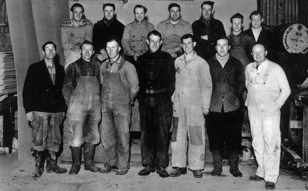 Bilde av Bygningsarbeiderne til Thorstein Hansen i 1950