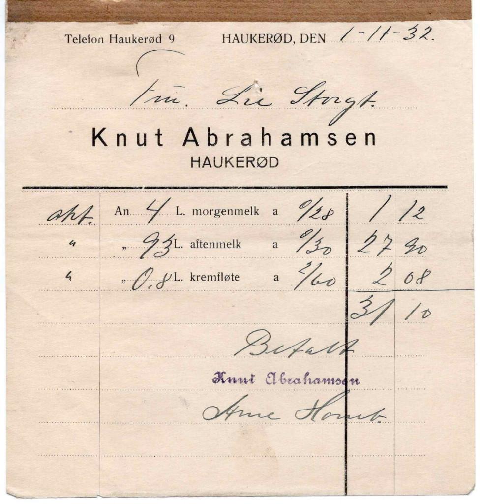 Bilde av Kvittering 1932