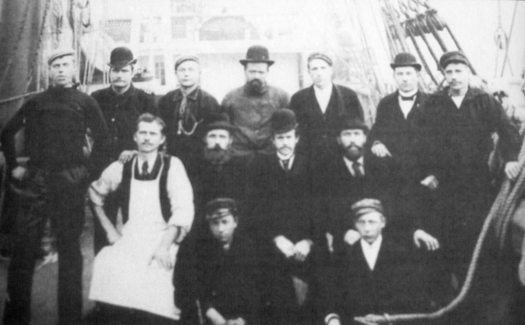 Bilde av Mannskapet på S/S Cureren av Sandefjord