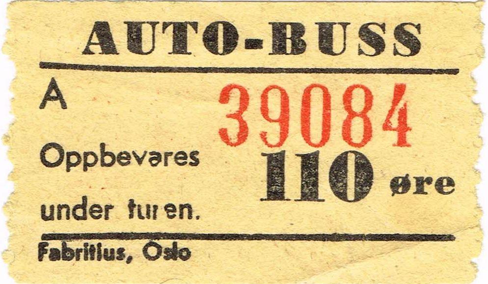 Bilde av Bussbillett