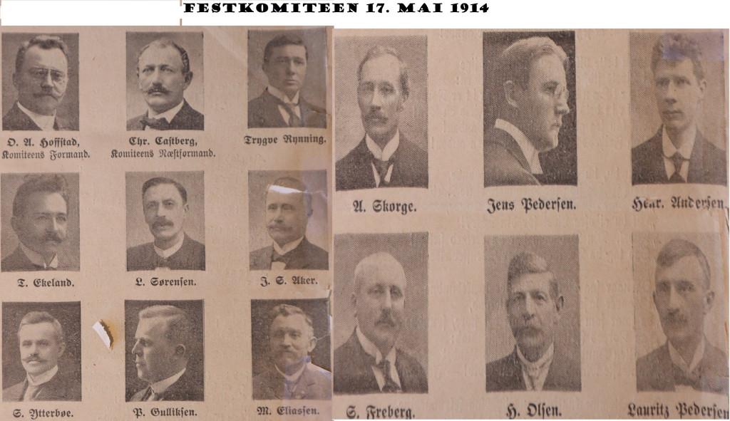 Bilde av Festkomite 1914
