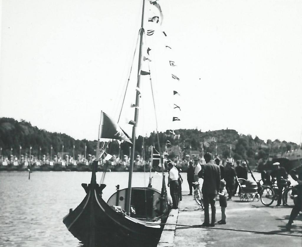 Bilde av Besøk av fembøring på 1950-tallet