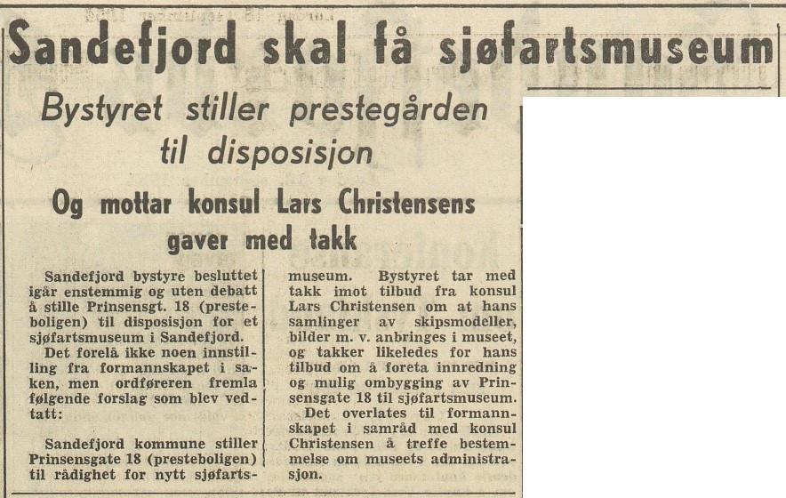 Bilde av Sandefjord skal få Sjøfartsmuseum