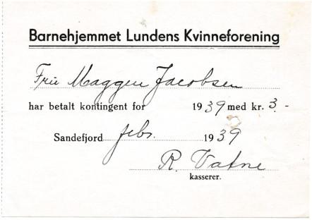 Bilde av Barnehjemmet Lundens kvinneforening