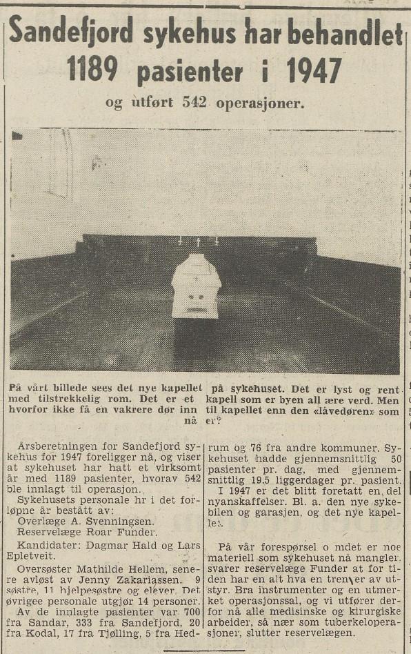 Bilde av Årsberetning for 1947