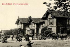 Bilde av Sandefjord Jernbanestasjon