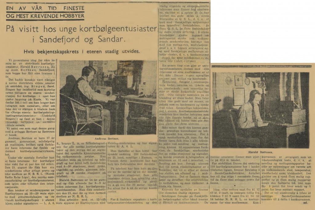 Bilde av Radioamatørene Andreas Bertnes og Harald Børresen
