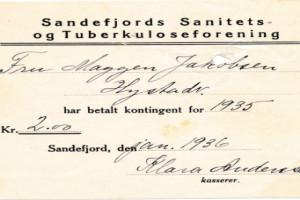 Bilde av Sandefjord Sanitets- og Tuberkuloseforening