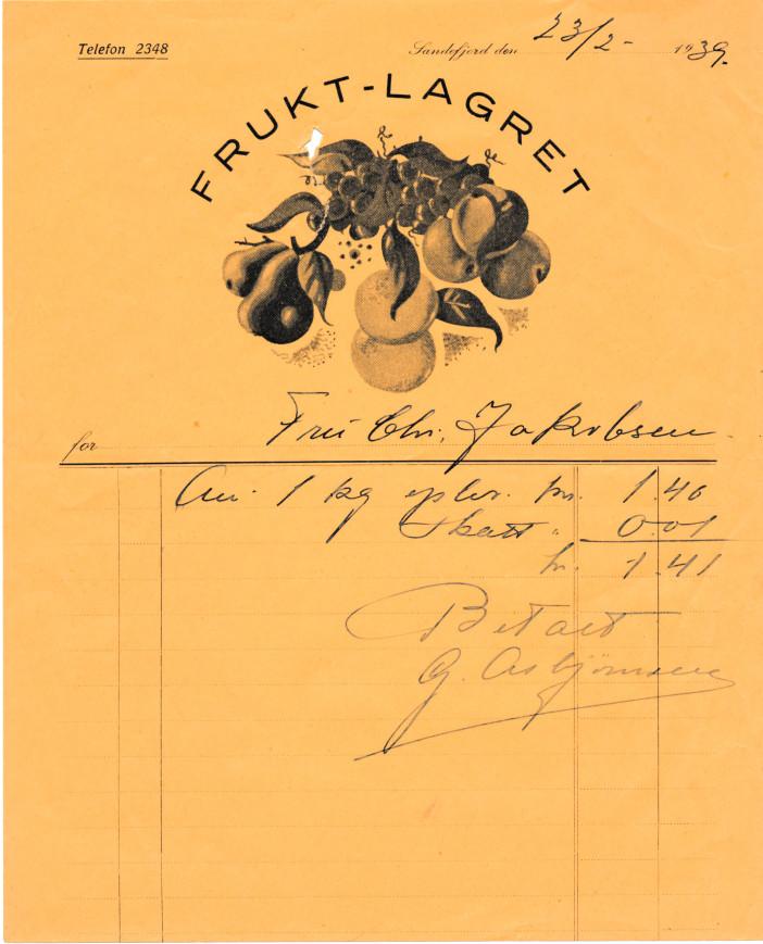 Bilde av Kvittering 1939