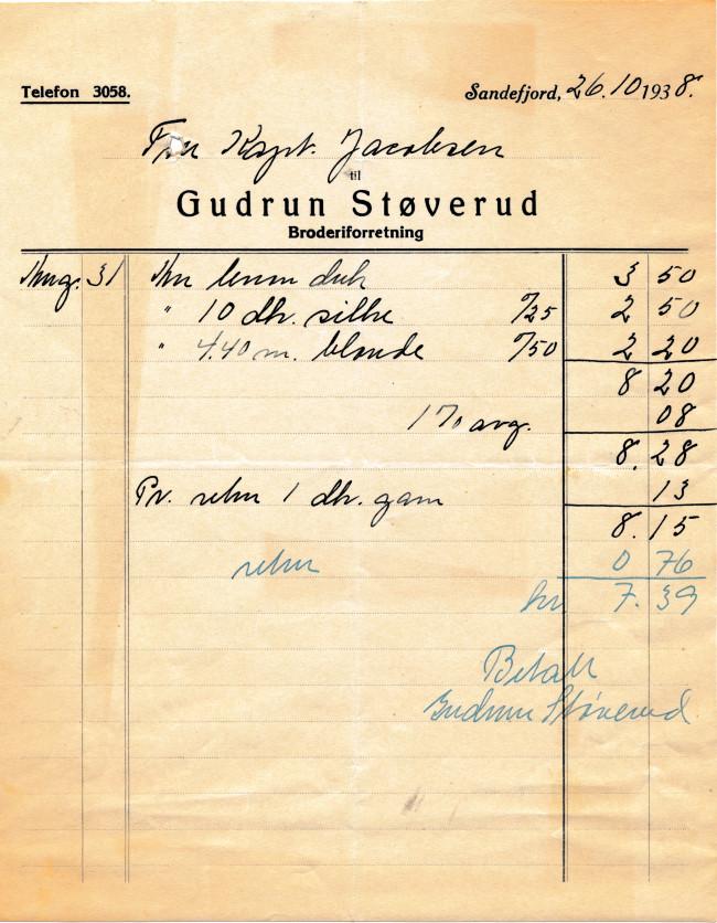 Bilde av Gudrun Støverud, broderiforretning