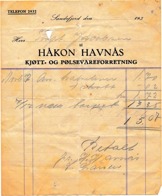 Bilde av Håkon Havnås, kjøtt og pølseforretning