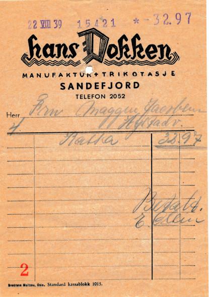 Bilde av Hans Dokken, manufaktur og trikotasje