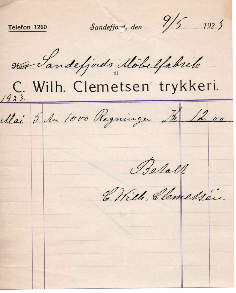 Bilde av Kvittering 1923